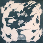 """nest of swallows"" woodblock print h60cm X w60cm ed.5 2003"