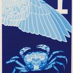 """""""カニハネアール"""" silkscreen h29.7cm X w21cm ed.7 2014"""