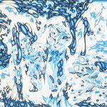 """""""pink lotus"""" silkscreen h54cm X w72cm ed.7 2012"""