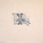 """""""STILL LIFE 6"""" woodblock print h60cm X w60cm ed.10 2001"""
