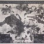 """""""dust devil"""" woodblock intaglio,woodblock print h81cm X w108cm ed.3 2007"""