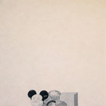 """something like round"" woodblock print h60cm X w60cm ed.10 2002"