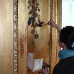 Goldkabinett - bei der Restaurierung