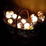 Mein Lichterkorb - Kartoffelkiepe u. Acrylkugeln