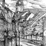 Steinweg in Naumburg, Tusche
