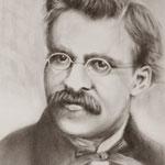 F.Nietzsche - Öltechnik mit dem trockenem Pinsel