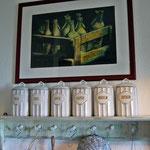 Gestaltung meines Bauernregals im Shabbystil und Pastellbild
