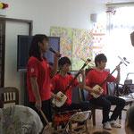 土田さんのじょんから節を、二人で伴奏しました