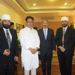 with H.E. Kiran Rijiju and H.E. Harsh Vardhan Shringla