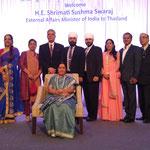 receiving H.E. Shrimati Sushma Swaraj, External Affairs Minister