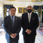 with H.E. Alongkorn Ponlaboot Member of NCPO (National Council of Peace and Order)