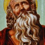 St Nicolas (copie de Guido Reni), avec jaune d'argent et émail