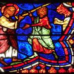 St Jacques donne un bâton à Hermogène pour chasser les démons