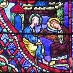 Saint Paul enseigne à Denys (qui porte désormais une auréole) le mystère de la Résurection