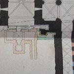 Plan de la crypte romane