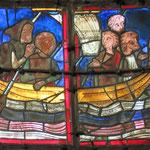 Marie au milieu des pélerins pendant la traversée vers Jérusalem