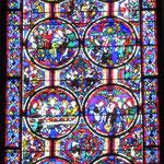 L'ensemble du vitrail de la Passion