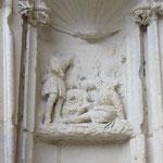 Les bergers prévenus par les anges -  Écoinçon façade ouest - portail de la vierge