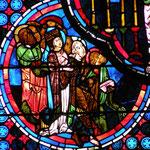 Six apôtres et la Vierge