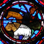 Joseph rencontre un  berger qui lui montre le chemin