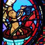 De l'enfer, le riche voit Lazare et le supplie en vain de lui donner à boire