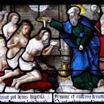Il se convertit et se fait baptiser avec sa femme Damaris par St Paul