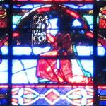 Détail Baie 102 - Mathilde de Courtenay, donatrice du vitrail de St Guillaume