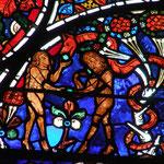 L'homme et la femme succombent à la tentation du serpent