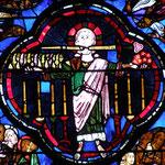 Le Christ tenant le livre aux 7 sceaux et les 7 étoiles, debout devant les 7 chandeliers