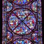 Le vitrail de l'invention des reliques de St Étienne