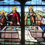 Les apôtres autour du tombeau de la Vierge