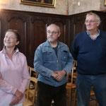 MM. Pascal Coudereau et Sylvain Treuillard de Sury-és-Bois lors de la réception de la symandre à l'échelle 1/2