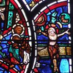 Mort du Christ sur la croix en présence de Marie et de Jean