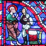 Saint Paul rencontre un prêtre païen près de l'autel au dieu inconnu