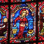 Le Christ enseigne Maria - Marthe fait les travaux du ménage puis fait des reproches au Christ