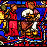 Hermogène lié à son tour par les démons est présenté à St Jacques qui donne à Philetus le pouvoir de le délivrer