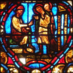 Cécile et Valérien devant Almaque (Deux scènes réduites en une par le verrier)