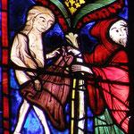 Le moine donne à Marie son manteau pour qu'elle se couvre