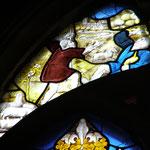 Les bergers prévenus par les anges (vitrail chapelle Saint Jean-Baptiste)
