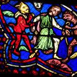 Hermogène lié à son tour par les démons est présenté à St Jacques qui donne à Philetus le pouvoir de le délivrer (refait en 1848)