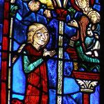 Marie l'Égyptienne prie la Vierge Marie