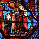 Jésus apparait à Thomas et lui ordonne d'accepter l'offre d'Abanès