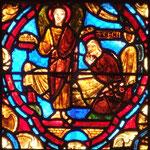 Un ange apporte à Cécile et Valérien deux couronnes de lys et de roses