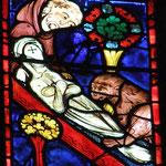 Zosime et le lion ensevelissent Marie