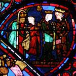 La femme de Putiphar fait des avances à Joseph. Joseph résiste et la femme vexée le dénonce à son mari.