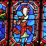 Le Christ fait sortir 7 démons du corps d'une femme tandis que Marthe et Lazare regardent la scène