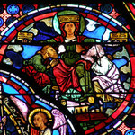 La Sagesse (où l'Église) allaite et couronne deux hommes