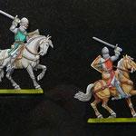 Cavaliers médiévaux, Plats d'étain 30 mm.