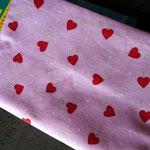 Kinderbuch - Hüllen - Groß - Rosa Herzen