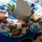 Nackenrolle, Affenmuster, klein